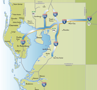 This is what $3.3 billion in express lanes looks like. Image: Florida DOT