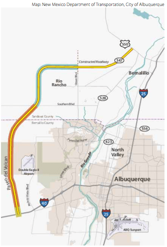 The traffic projections used to justify the Paseo del Volcan Extension were formulated 15 years ago. Since then, population growth in Albuquerque has outpaced vehicle miles traveled.