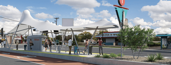 Albuquerque's ART bus rapid transit seeks to change the way people get around. Image: City of Albuquerque