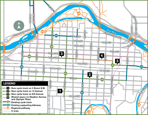 The Calgary Model: Connect Protected Bike Lanes Fast, Watch Riders on