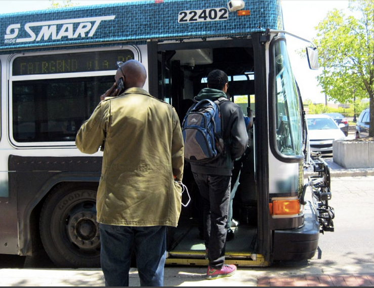 "The Detroit region is the largest U.S. metro area without a unified regional transit system. This photo shows a suburban ""Smart"" bus. Photo: Michigan RTA"