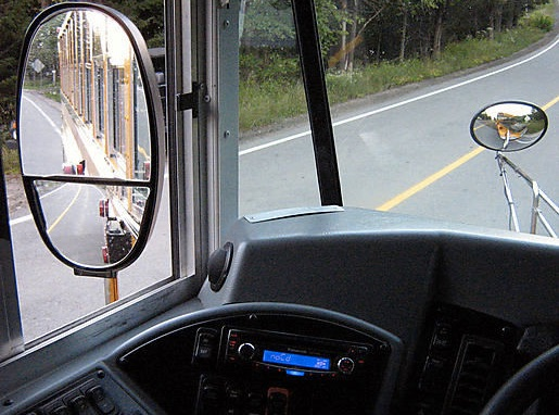 Crossover mirrors can help trucks minimize blind spots. Photo: Moblog