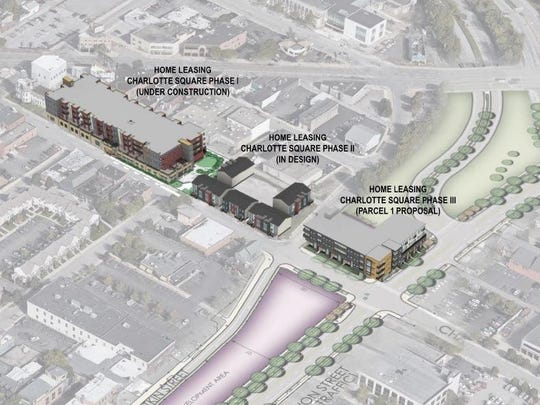 A mix of subsidized and market rate housing will replace once section of the former highway. Image: SWBR Architects via