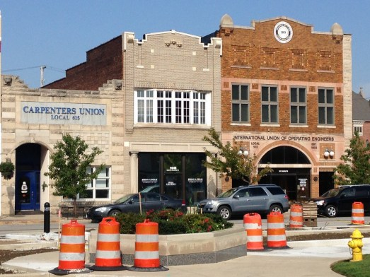 Kokomo, Indiana, has put a lot of money and energy into developing streetscape features like bumpouts, Aaron Renn reports. Photo: Urbanophile