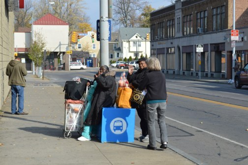 """This """"bus stop cube"""" was one of two tested recently in Rochester to help give bus riders a place to rest. Photo: Rochester Subway"""