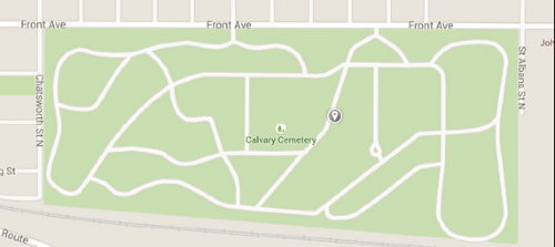 Urban cemeteries often have limited public access. Image: Google Maps via Streets.mn