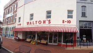 Sam Walton's first store, in downtown Bentonville, where the company hopes to draw young employees. Photo: brad_hot/Flickr via Washington Post