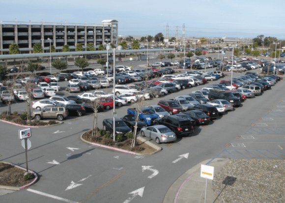 Those trying to build walkable communities around transit stations are still running up against bad parking requirements. Photo: City of Millbrae