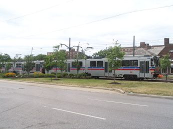 Greater Cleveland RTA's Blue Line is the type of commuter rail that, with some planning, could evolve into ?, Photo: Wikipedia