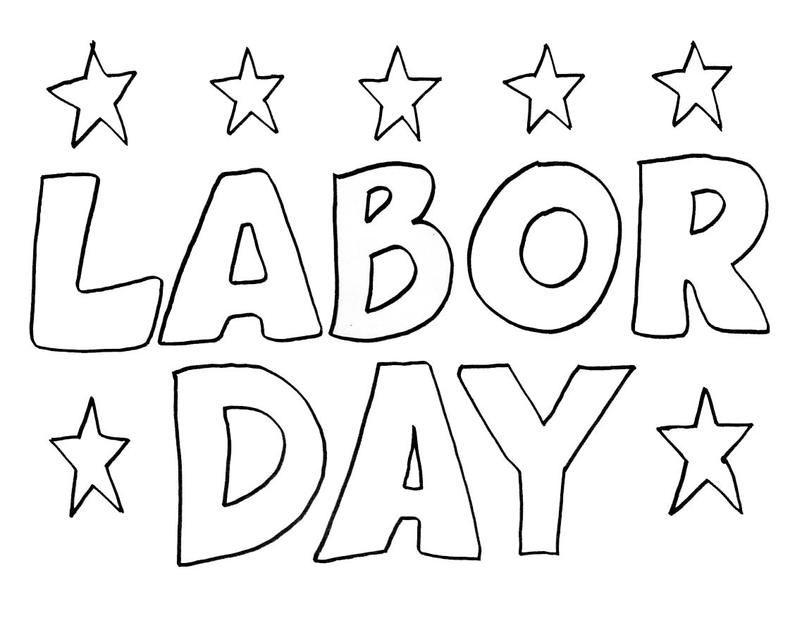 Labor Day Coloring Worksheets Usaallfestivals