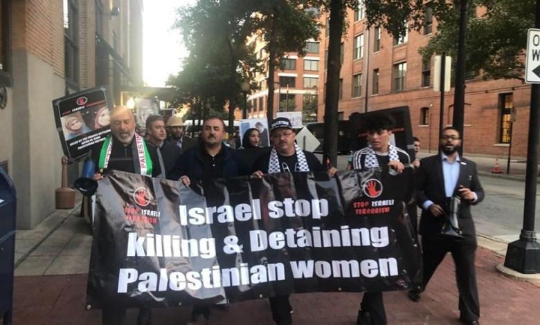 Photo of مسيرة في امريكا للتنديد بالعدوان الاسرائيلي على غزة
