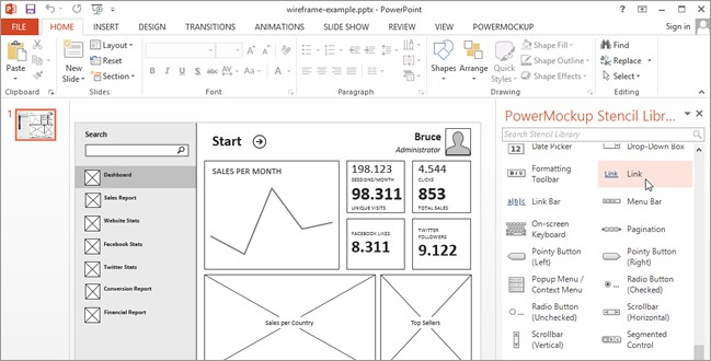 Wireframing And Storyboarding With PowerPoint PowerMockup Usability Geek