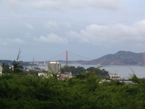 Ausblick vom Coit Tower: Die Golden Gate Bridge