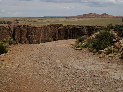 Ein kleiner Canyon im Navajo-Gebiet