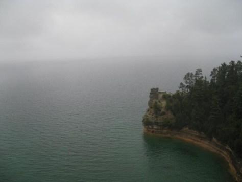 Auch ein dunstiger See hat seinen Reiz