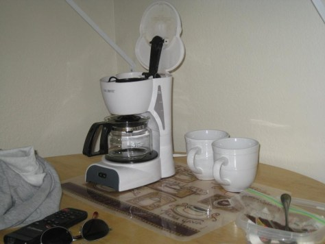 Echte Tassen! Eine Rarität in amerikanischen Motelzimmern