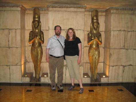 Im Luxor Hotel im fast echten Ägypten