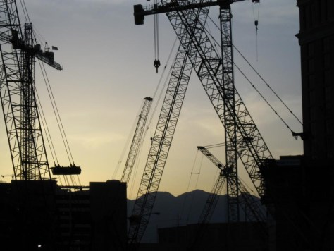In Las Vegas wird immer irgendwo gebaut.