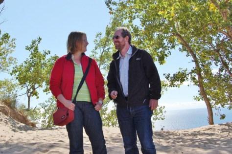 Jutta und Ralf beim Dünenbesuch