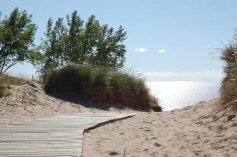 Unser Wanderweg durch die Dünen