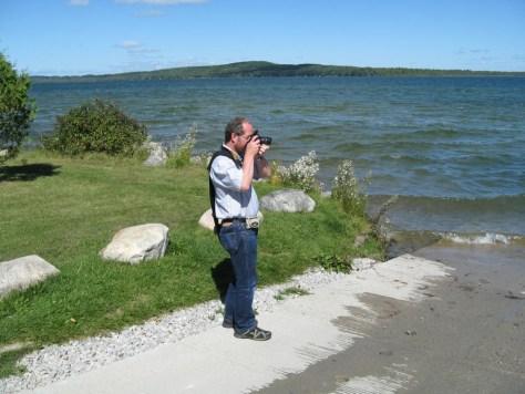 Ralf bei seiner Hauptbeschäftigung des Urlaubes