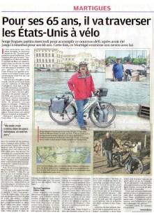 """INTERVIEW DE SERGE DANS LE JOURNAL """"LA PROVENCE"""""""