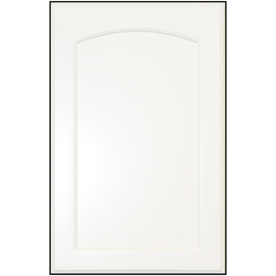 Painted Flat Panel With Arch Mdf Cabinet Door