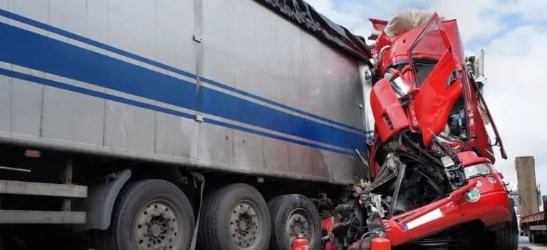 Lanes Closed after Semi-Truck Accident on 8 Freeway at Highway 125 [La Mesa, CA]