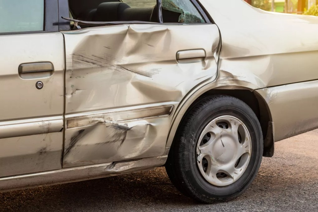 Damage Sustained in Accident on East Bullard Avenue at North First Street [Fresno, CA]
