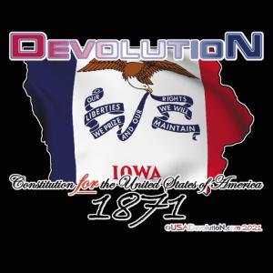 Iowa Map-Flag