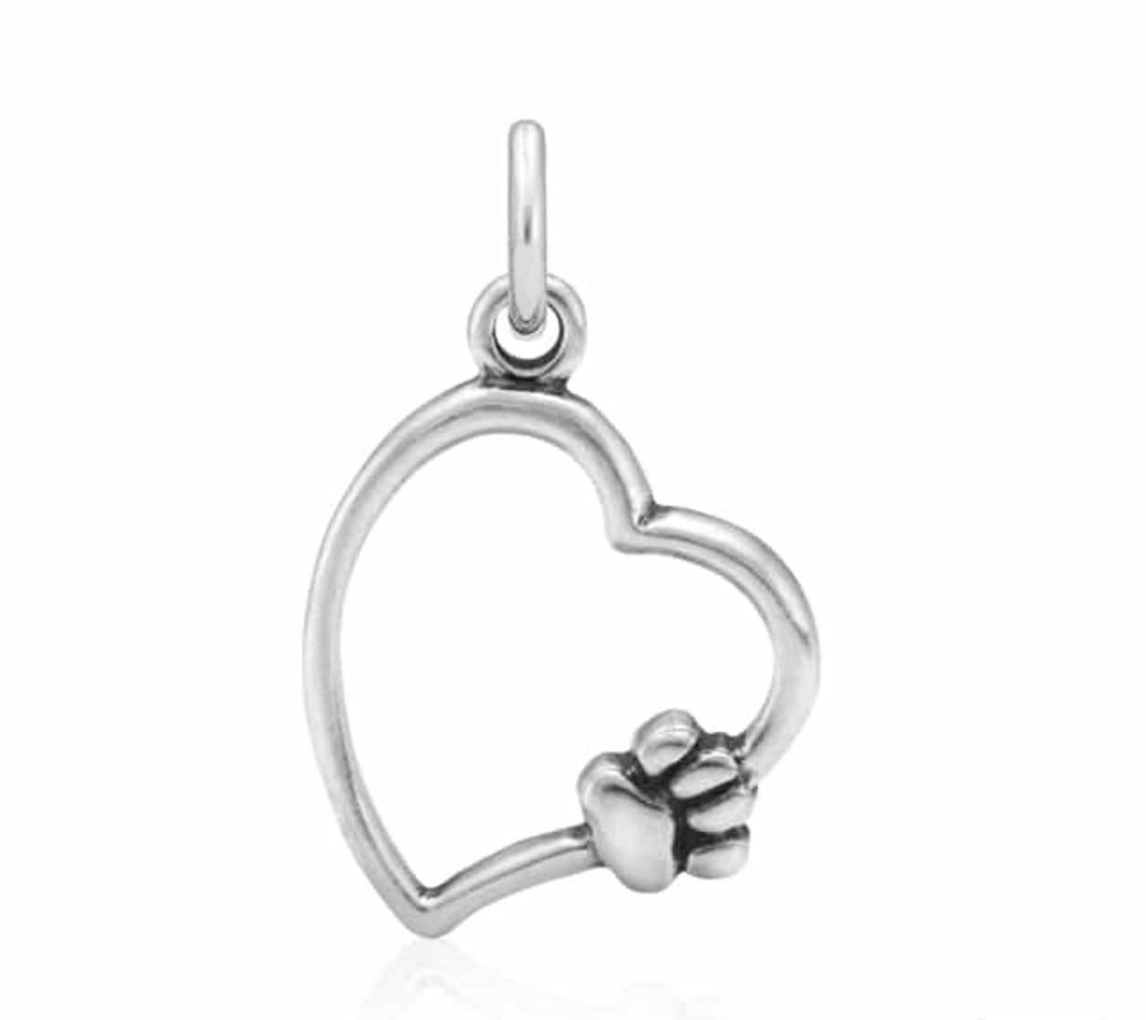 Paws On My Heart Pendant Sterling Silver