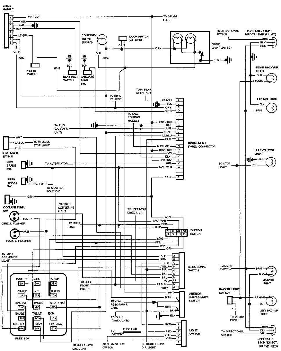 88 Chevy K1500 Radio Wiring Diagram Chevy K1500 Engine