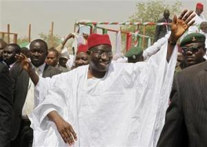 Nigeria's President Goodluck Jonathan in-kano2011.pix-by Joe Penny/Reuters