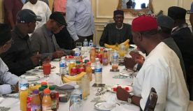 After 80 days, very thin Buhari's picture having lunch in London released