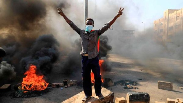 Military coup in Sudan face protests; nationwide state of emergency declared.