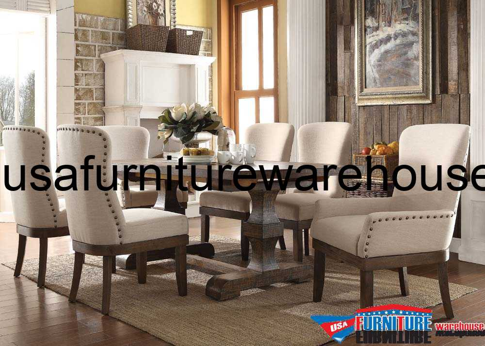 9 Piece Acme Landon Rustic Dining Set
