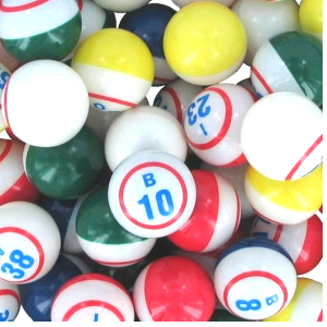 Single Number 5 Color Bingo Balls