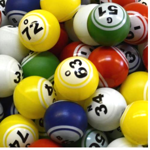 Double Number 5 Color Bingo Balls