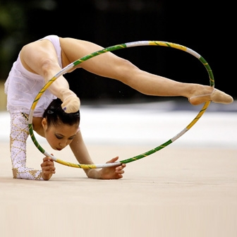 USA Gymnastics Wang Wins Rhythmic Gymnastics Senior All