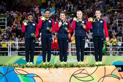 USA Gymnastics: Aug. 9 - Women's Team Final &emdash; USA, winners of the team gold medal