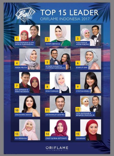 top 15 oriflame indonesia 2017