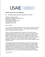 USAIE comments on proposed international entrepreneur rule