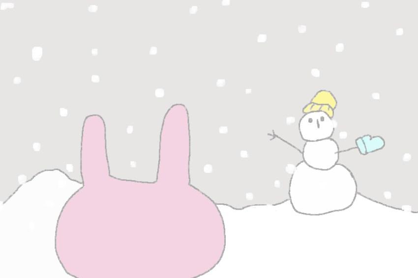 2コマ目。 外は雪が降っている。