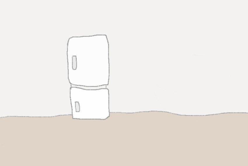 8コマ目。 冷蔵庫