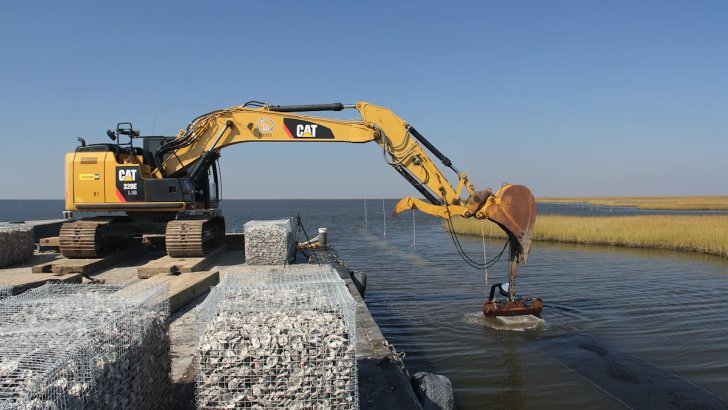 Thousands of People Contribute to Building Louisiana's Newest Oyster Reef