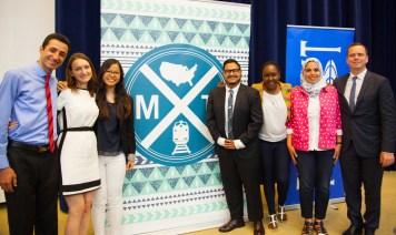 """The Millennial Trains Project: panel dyskusyjny w Departamencie Stanu USA, czerwiec 2015 r. Na zdjęciu dr Magdalena Leszko (druga od lewej) wraz z innymi stypendystami Fulbrighta wyłonionymi do uczestnictwa w """"The 2015 Millennial Trains Project"""", programie sponsorowanym przez Departament Stanu"""