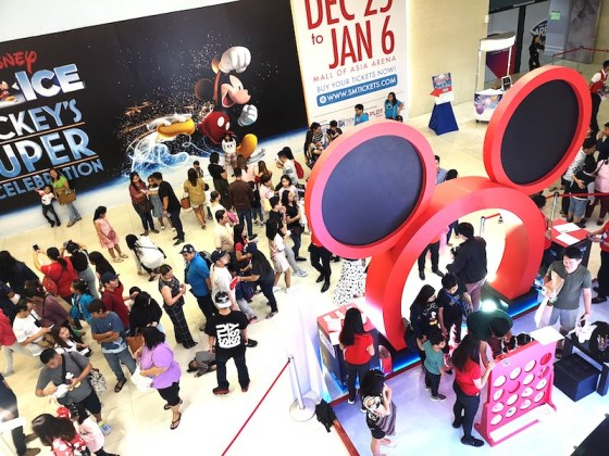 Disney on ice in Mall of Asia ARENAの撮影スポット
