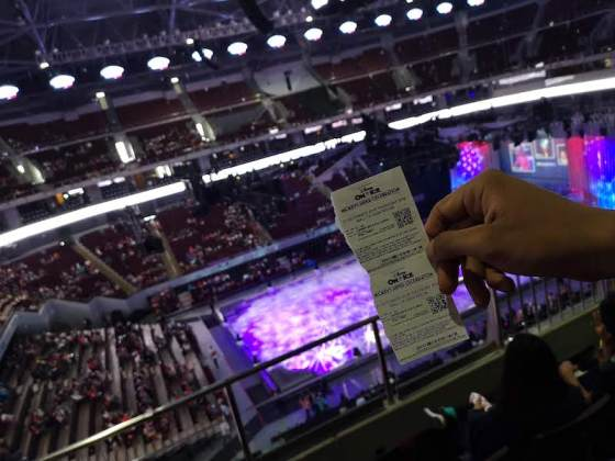 Disney on ice in Mall of Asia ARENAの席