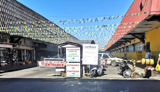 カルティマールマーケットの入り口