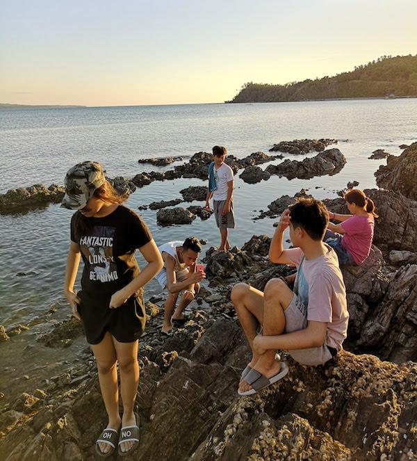 フィリピンでウルルン-ビーチで自由な時間